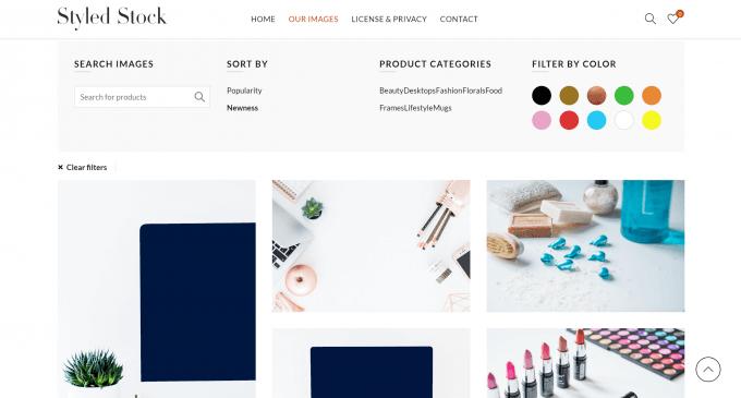 Styled Stockのサンプル画像(検索ボックス)