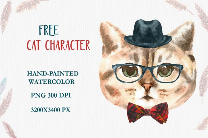 FREE Cat portrait|Behance