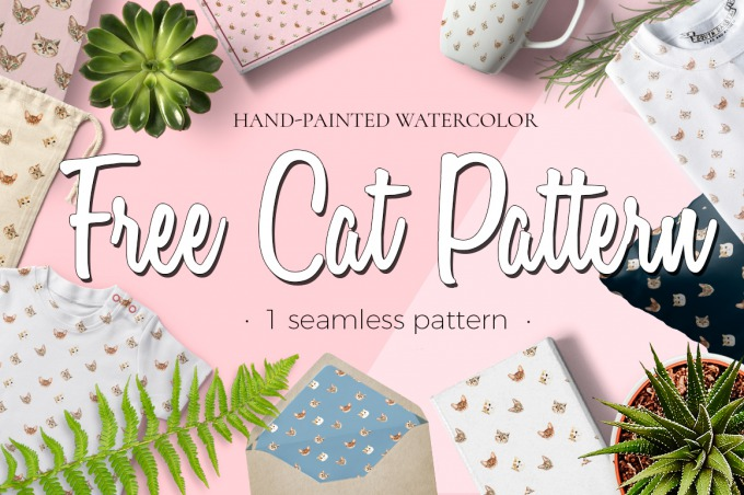 FREE CAT PATTERN|Behance