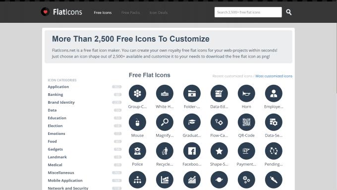 FlatIconsのスクリーンショット