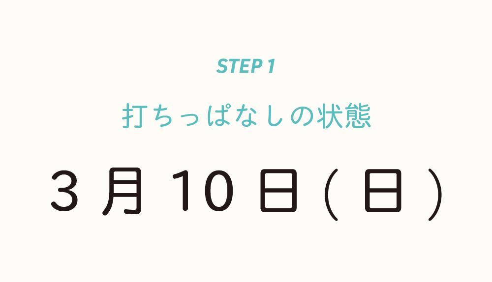 step1:打ちっぱなしの状態