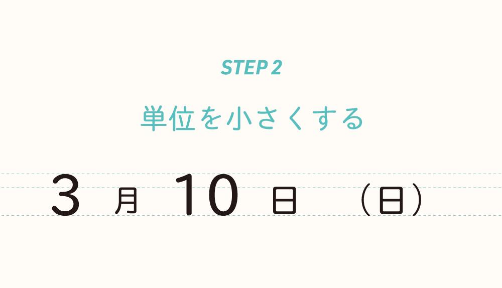 step2:単位を小さくする