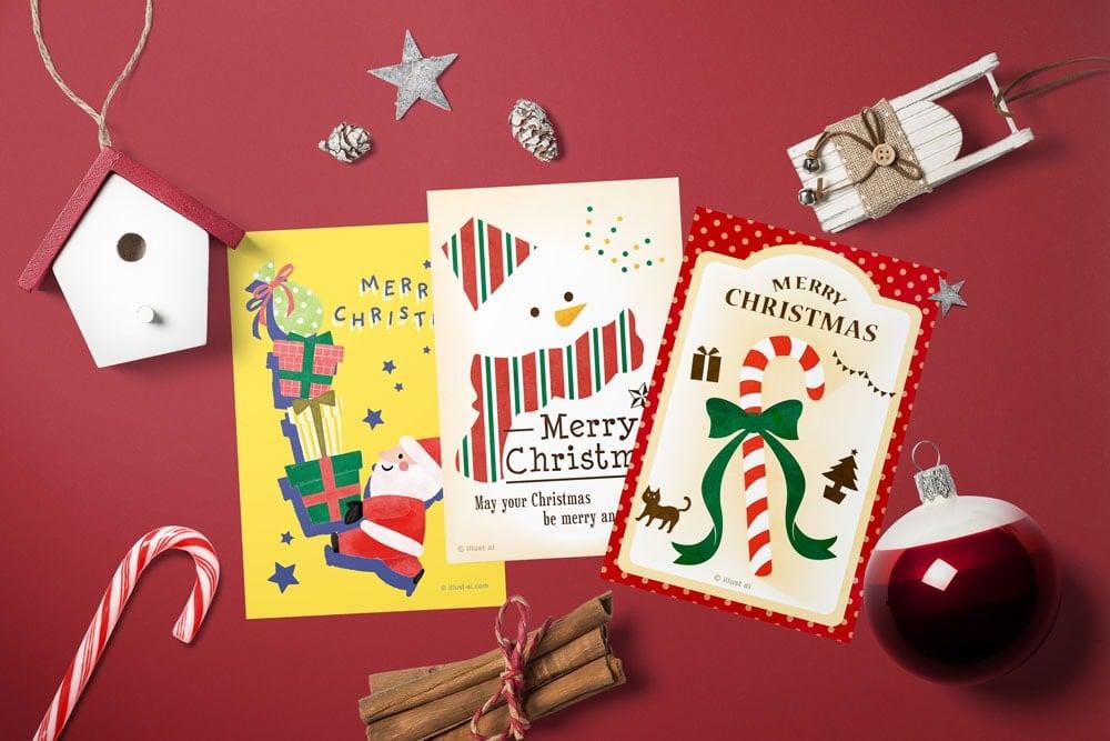 クリスマスのポストカードサンプル